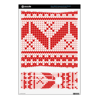 Christmas Abstract Jumper Knit Pattern Xbox 360 S Console Skin