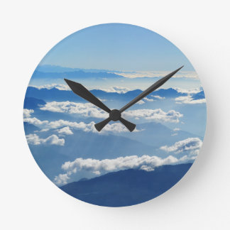 Christmas abstract sky heaven clouds mountains round clock