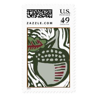 Christmas Acorn Stamps