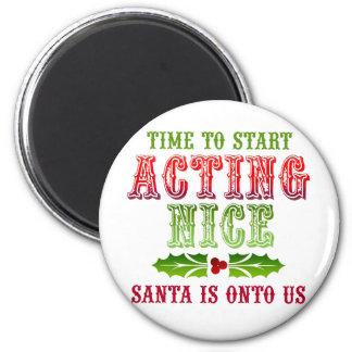 Christmas Act Nice Fridge Magnets