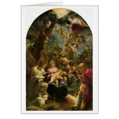 Christmas - Adam Elsheimer - Holy Family Card at Zazzle