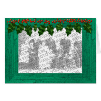 Christmas Add Your Photo Frame Customizable Card