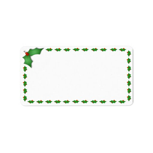 Christmas address labels zazzle for Christmas mailing labels