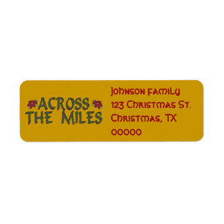 Christmas Address Labels across the miles