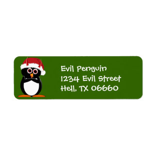 Christmas Address Labels - Evil Penguin