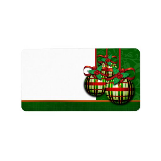 christmas address labels for holiday card mailing zazzle With christmas card address labels