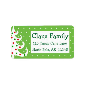 Christmas Address Labels Personalize Customize