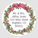 "Christmas Address Sticker<br><div class=""desc"">""click to customize further"" if you have any further editing that is needed.</div>"