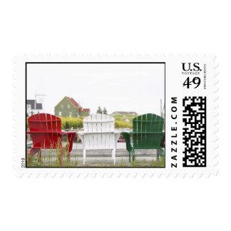 Christmas Adirondack Chairs Stamps
