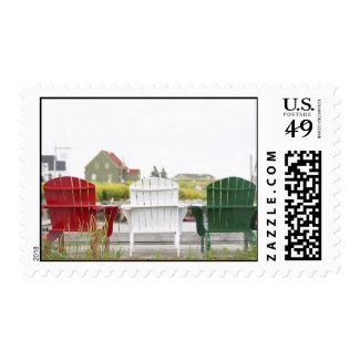 Christmas Adirondack Chairs Stamps