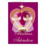 Christmas Adoration - Customized Greeting Cards