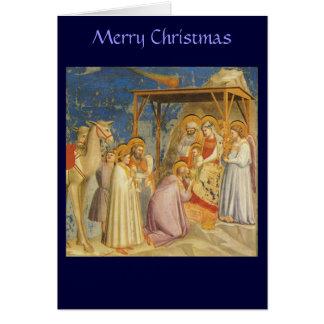 Christmas - Adoration of the Magi - Giotto Greeting Card