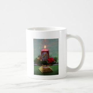 Christmas, Advent, burning red motive candle Coffee Mug