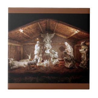 Christmas Advent Jesus Nativity Manger Scene Ceramic Tile