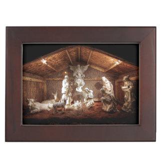 Christmas Advent Jesus Nativity Manger Scene Keepsake Box
