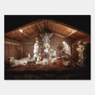Christmas Advent Jesus Nativity Manger Scene Lawn Sign