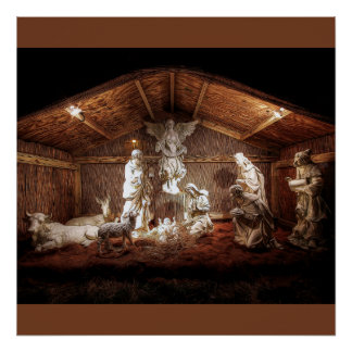 Christmas Advent Jesus Nativity Manger Scene Poster