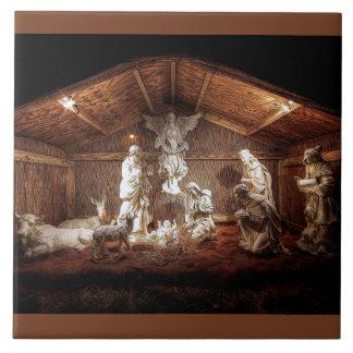 Christmas Advent Jesus Nativity Manger Scene Tile
