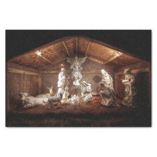 Christmas Advent Jesus Nativity Manger Scene Tissue Paper