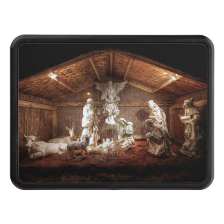 Christmas Advent Jesus Nativity Manger Scene Tow Hitch Cover