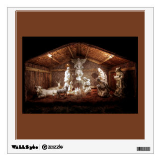 Christmas Advent Jesus Nativity Manger Scene Wall Decal