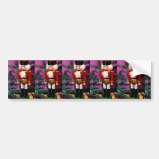 Christmas, Advent, nutcracker Santa Claus, Bumper Sticker