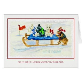 Christmas Adventure greeting card