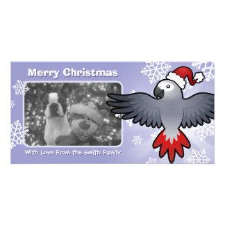 Christmas African Grey / Amazon / Parrot Card