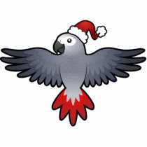 Christmas African Grey / Amazon / Parrot Statuette