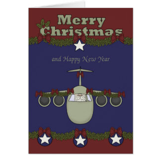 Christmas, Air Force Greeting Card