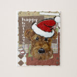 CHRISTMAS AIREDALE JIGSAW PUZZLE