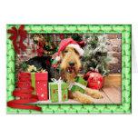 Christmas - Airedale - Kiehn Greeting Card