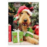 Christmas - Airedale - Kiehn Greeting Cards