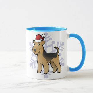 Christmas Airedale Terrier / Welsh Terrier Mug
