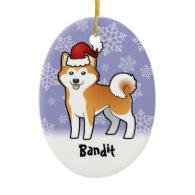 Christmas Akita Inu / Shiba Inu (add pets name) Christmas Ornament