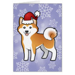Christmas Akita Inu / Shiba Inu Card