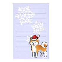 Christmas Akita Inu / Shiba Inu Stationery