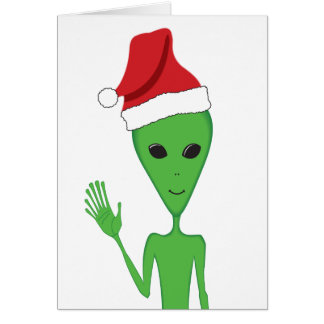 Christmas Alien Season's Greetings Greeting Card