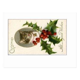Christmas . . . All Good Wishes Postcard