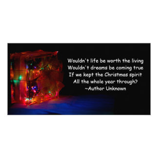 Christmas All Year Quote Card