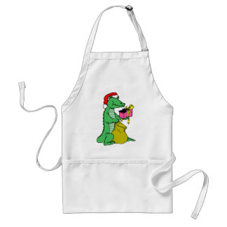 Christmas Alligator Apron