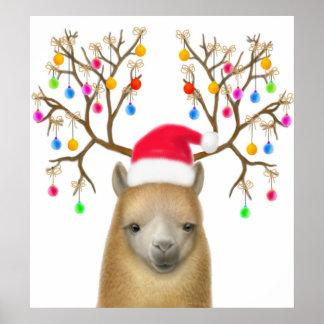 Christmas Alpaca Print