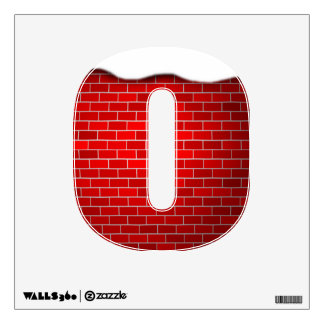 Christmas Alphabet Letters - Red Brick with Snow Room Sticker