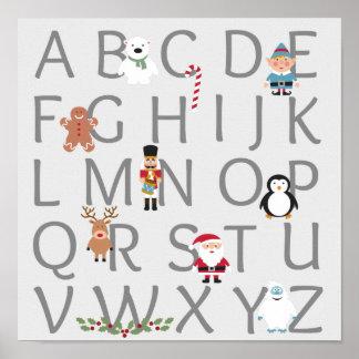 Christmas Alphabet Poster
