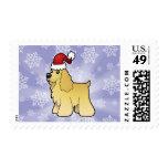 Christmas American Cocker Spaniel Postage Stamps