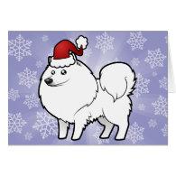 Christmas American Eskimo Dog / German Spitz Cards