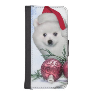 Christmas American Eskimo dog iPhone SE/5/5s Wallet