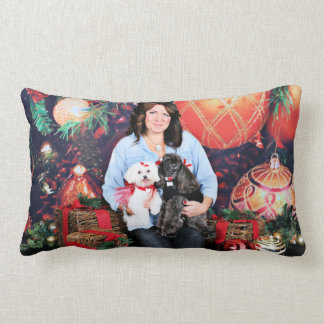 Christmas - Amiche Poodle - Tinkerbell Maltese Lumbar Pillow