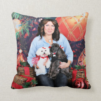 Christmas - Amiche Poodle - Tinkerbell Maltese Throw Pillow