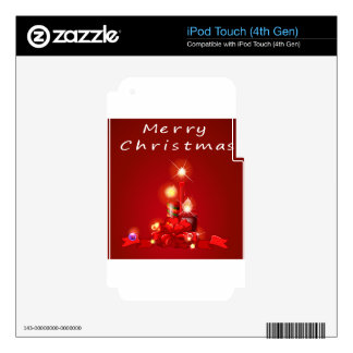 Christmas and candles skin for iPod touch 4G